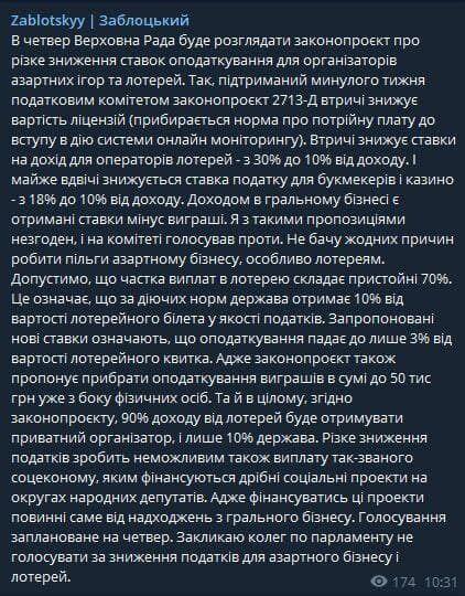 Публикация в Telegram