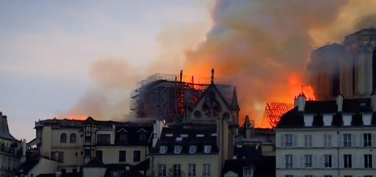 Деревья пойдут на реконструкцию шпиля собора Парижской Богоматери, который сгорел в 2019 году.