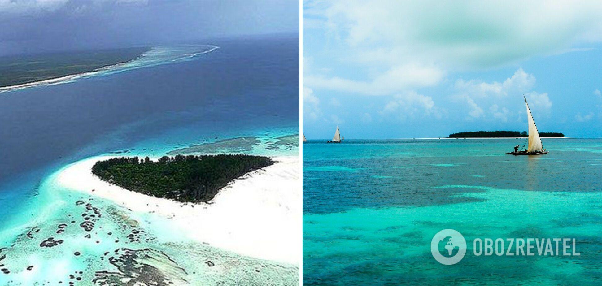 Остров Мнемба имеет просторные пляжи и лагуны с белоснежным песком.