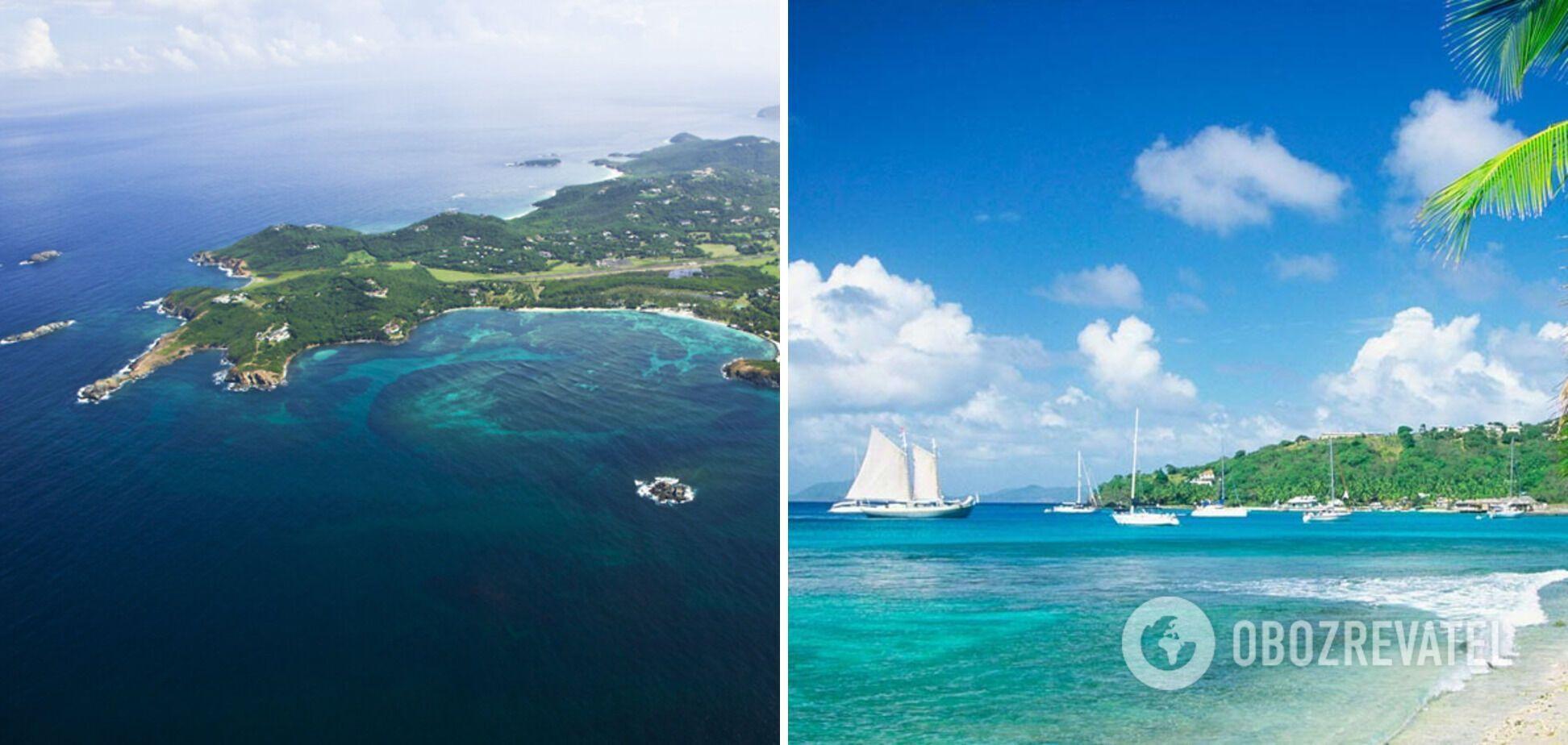Остров Мюстик представляет для отдыха туристам самые чистые пляжи.