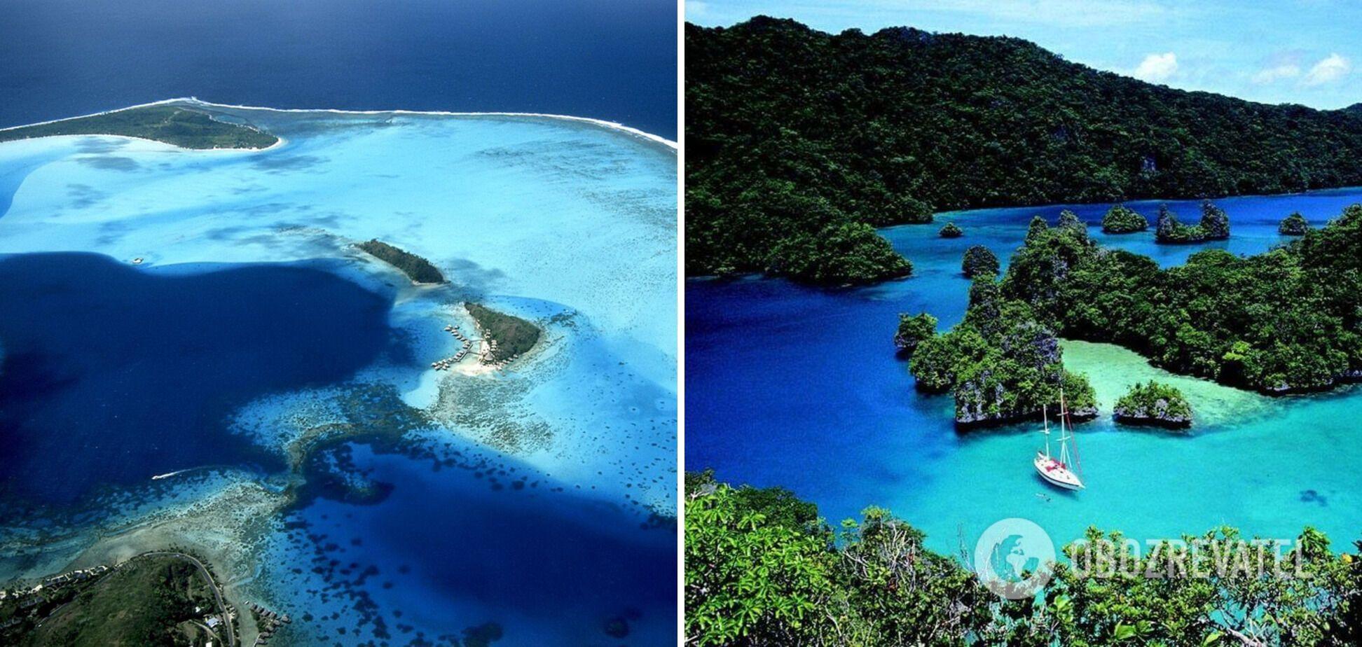 Остров Тартл окружен пальмами и зарослями экзотических цветов.