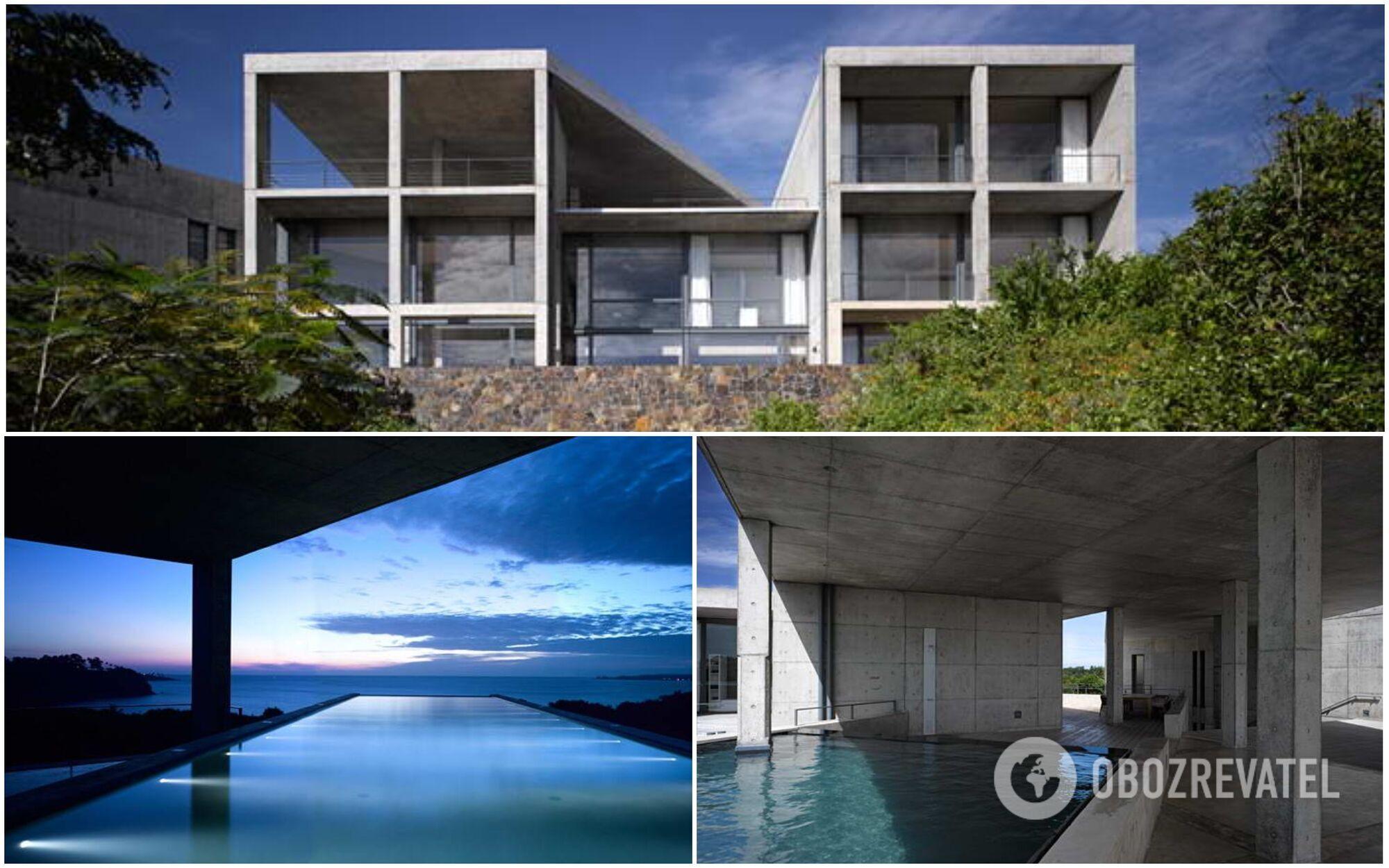 Тадао Андо спроектировал дом так, чтобы из каждой его комнаты открывался вид на океан.