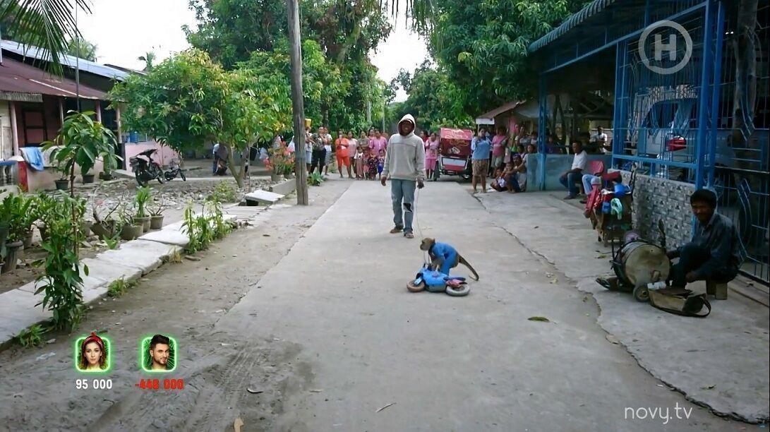 Ведущая гипнотизировала кур на Суматре