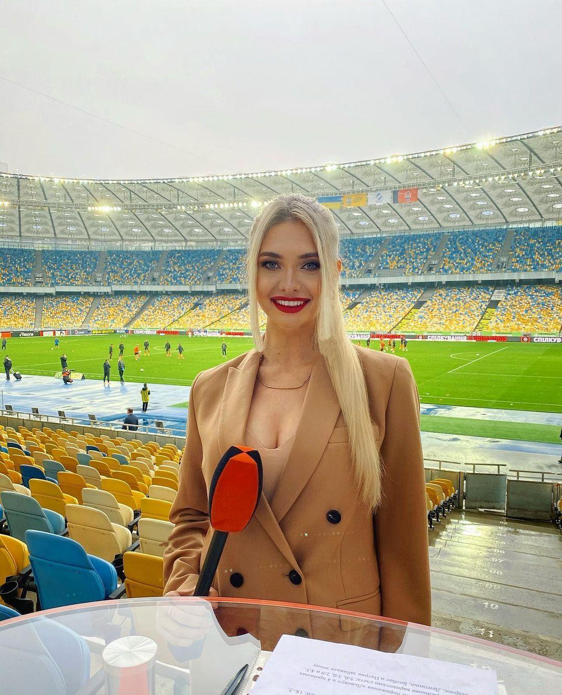 Ольга Каленчук на стадионе
