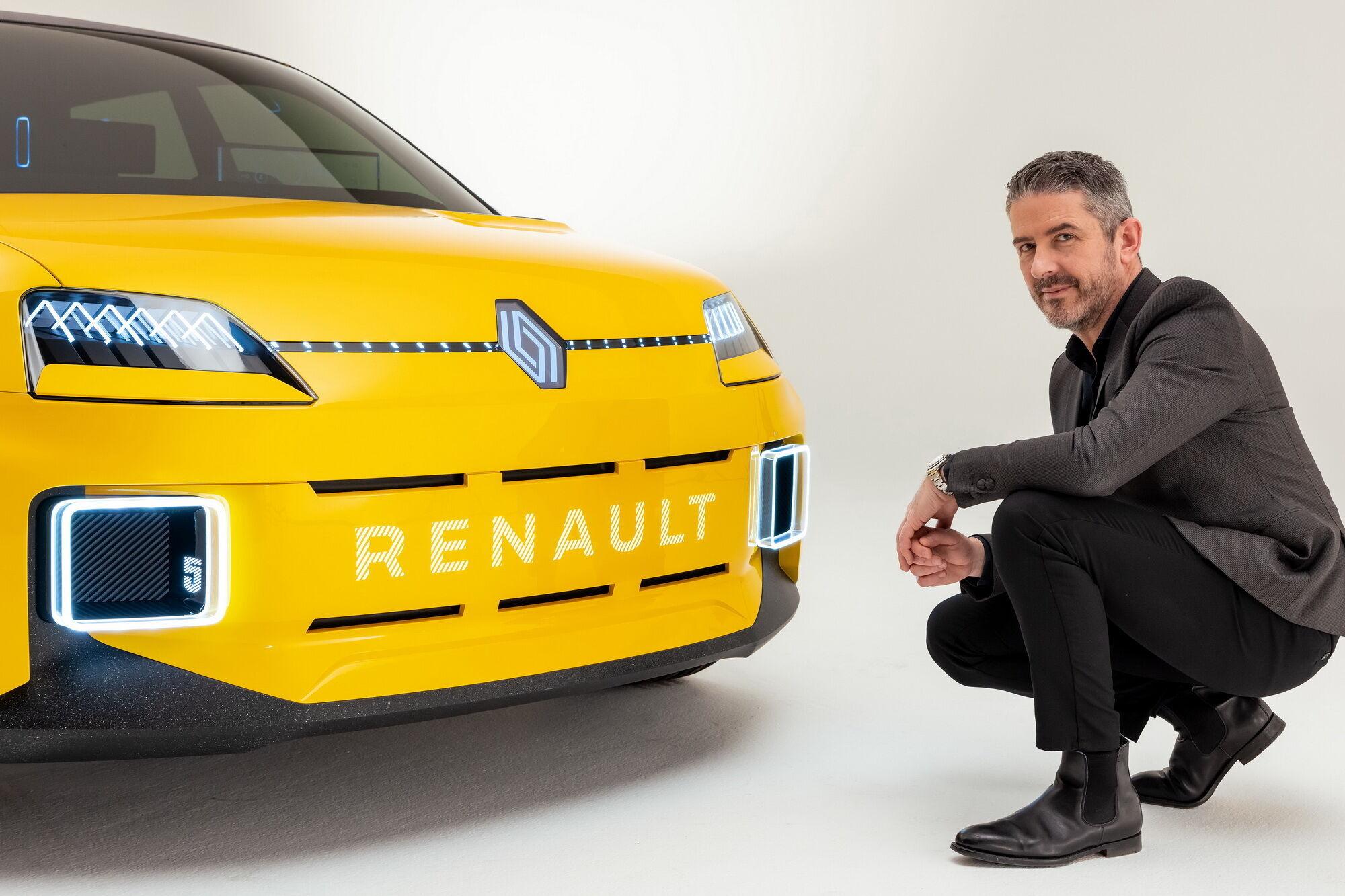 Жиль Видаль и концепт Renault 5 с новой эмблемой