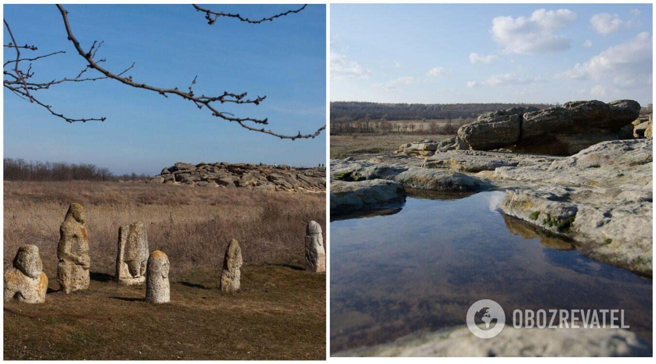 Кам'яна могила розташовується неподалік від села Терпіння Мелітопольського району