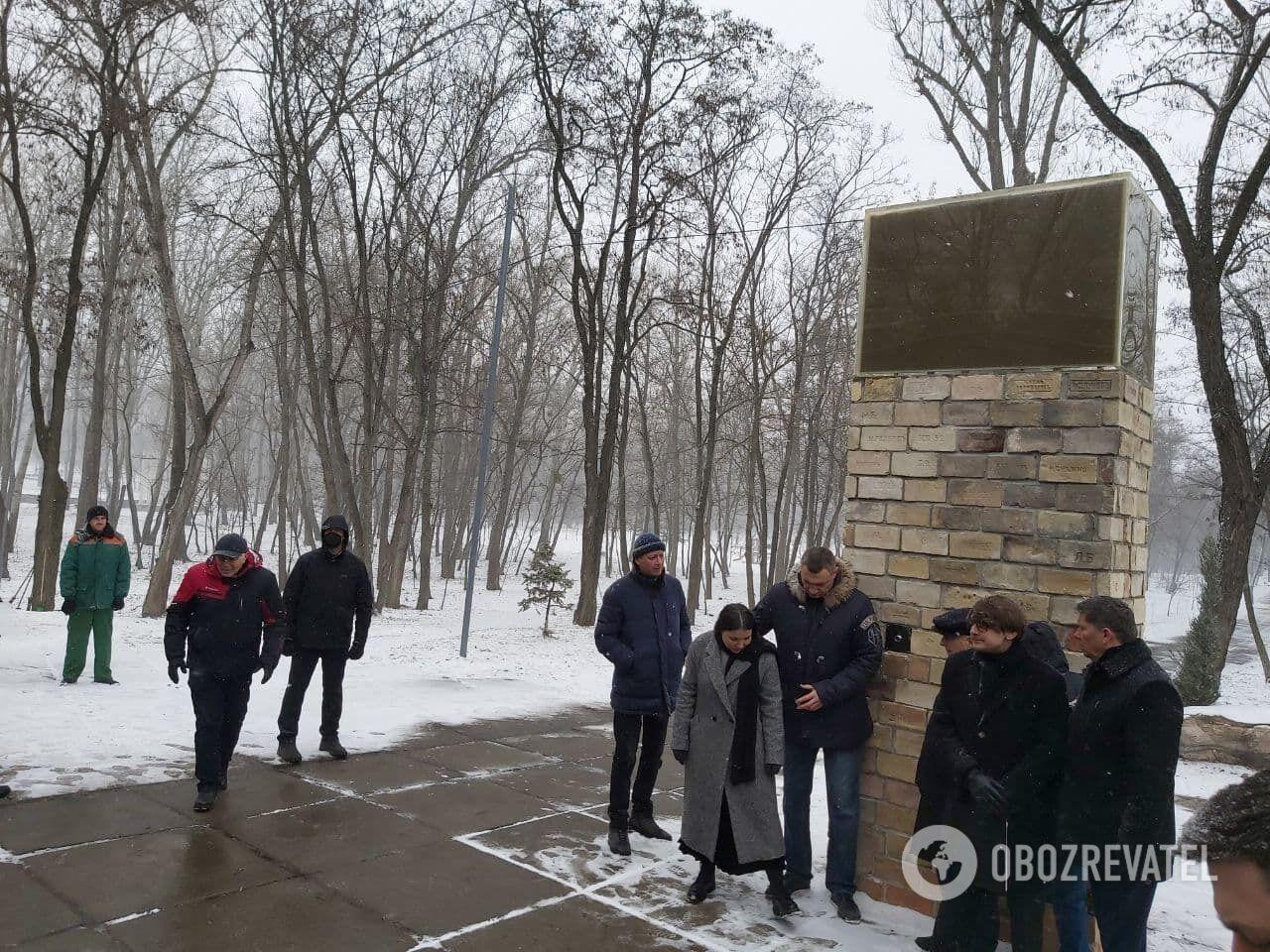 Инсталяция в память о Куреневской трагедии.