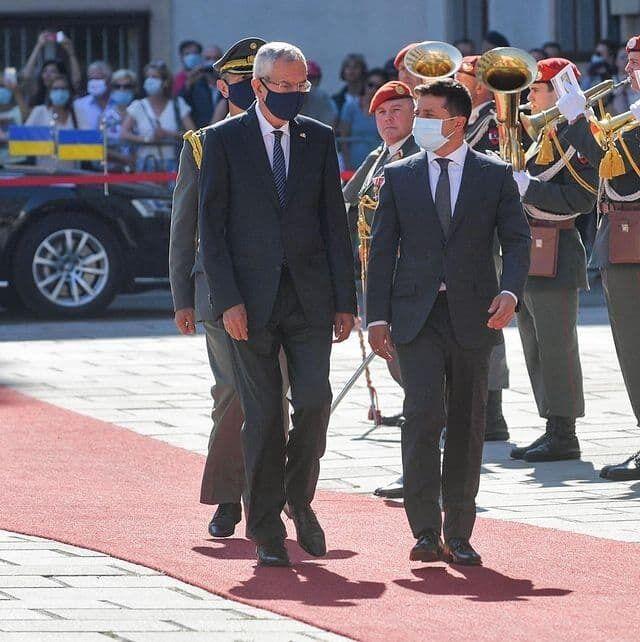 Президенты Австрии и Украины.
