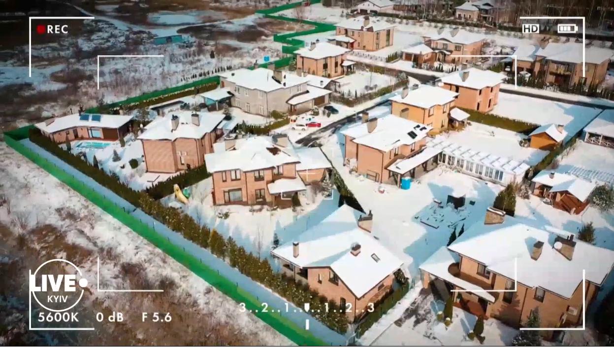 Двухэтажный особняк Каменских и Потапа расположен под Киевом