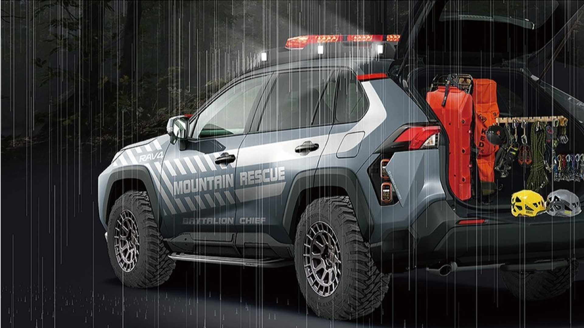 Toyota RAV4 Mountain Rescue оборудован тонной спасательного оборудования