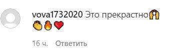 Коментарі шанувальників в Instagram.
