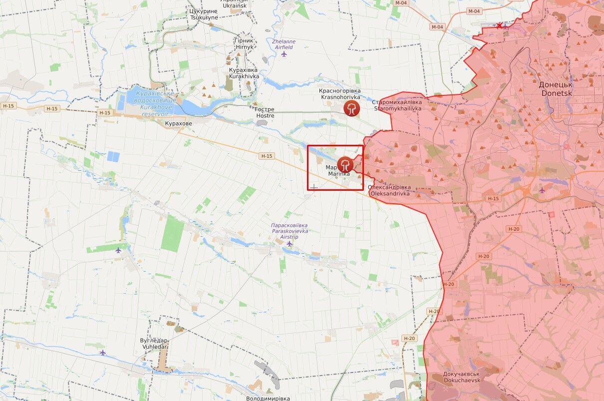 Обстріл стався в районі Мар'їнки.
