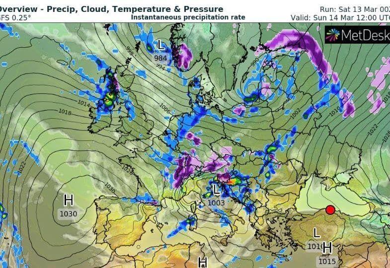 Погода в Україні.