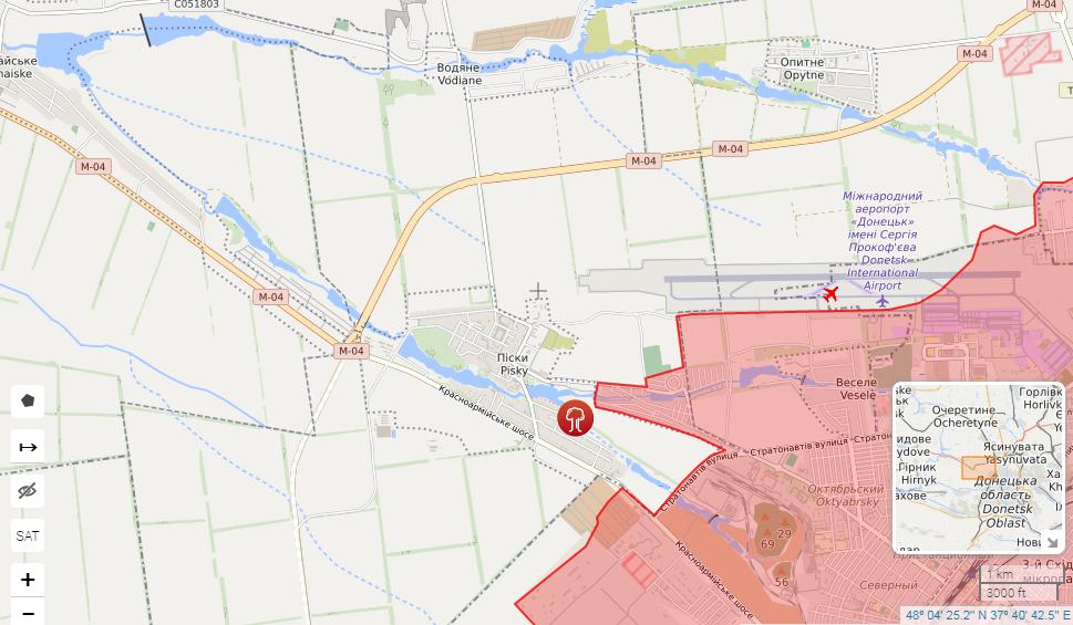 Обстріли велися поблизу Водяного і Пєсков