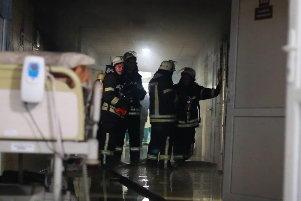 В одній з лікарень Києва сталася пожежа.