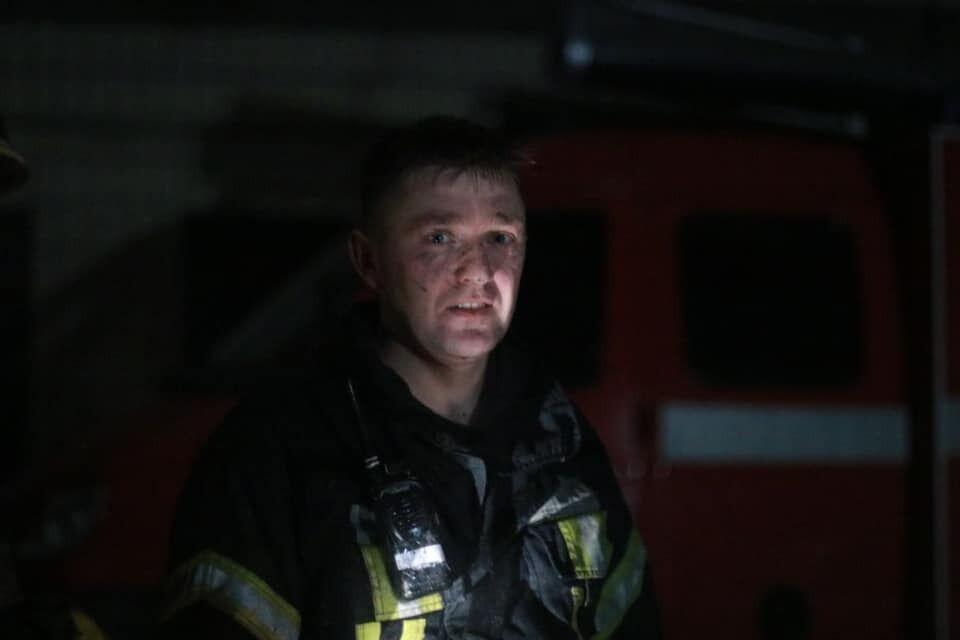 Спасатель, который боролся с огнем