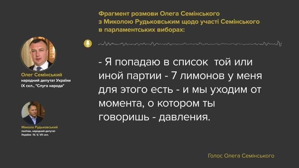 Фрагмент беседы Семинского с Рудьковским.