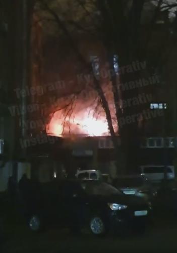 Пожар в ресторане в Киеве