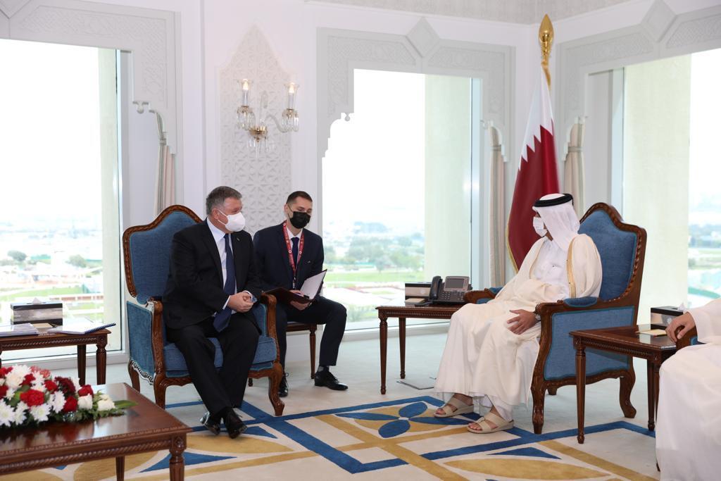 Аваков зустрівся з прем'єр-міністром Катару.