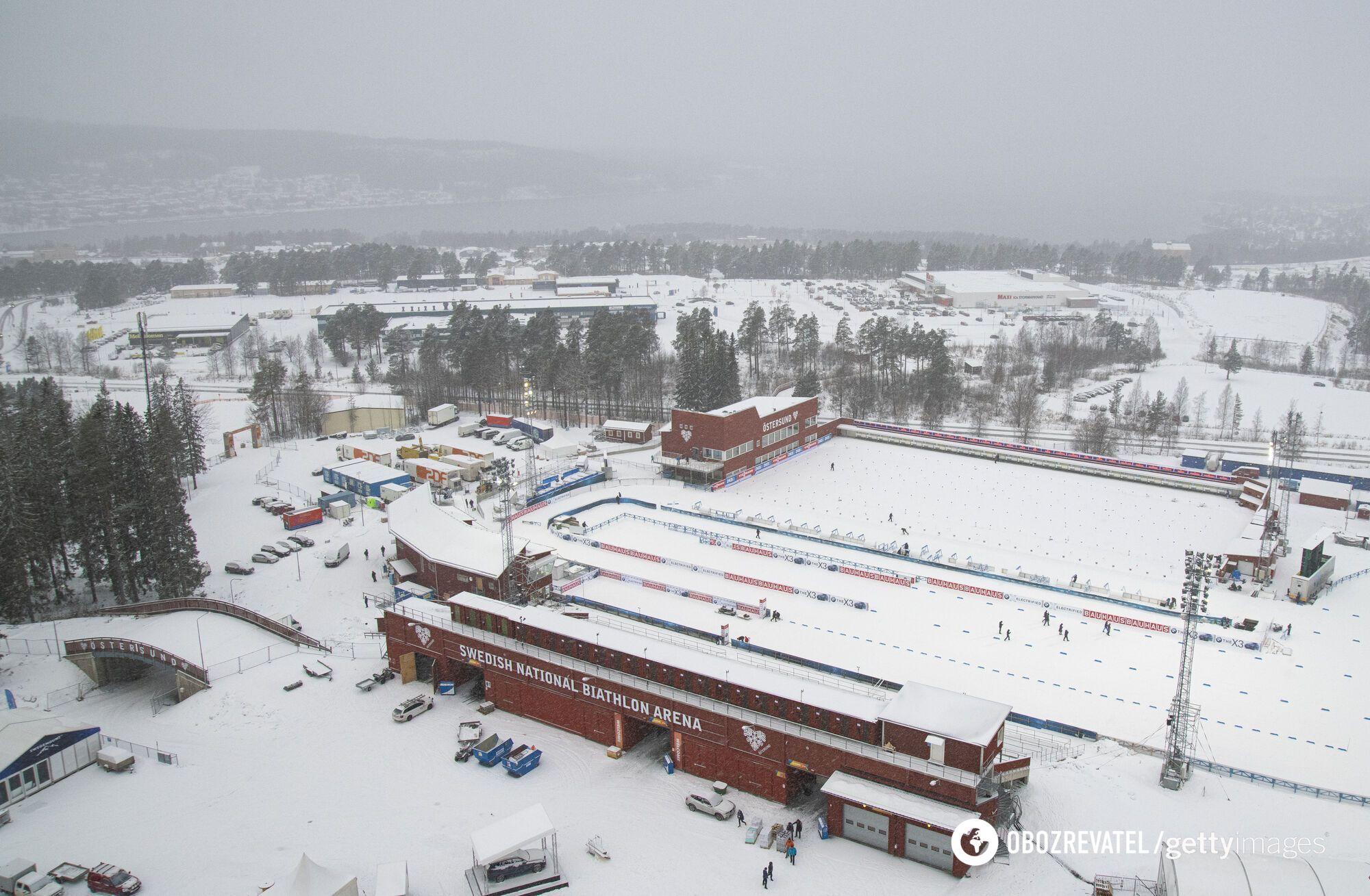 Биатлонный стадион в Эстерсунде