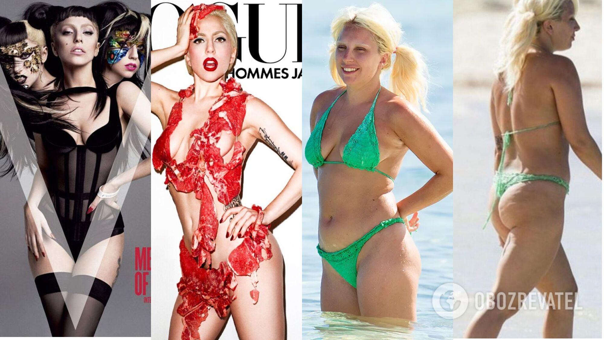 Фігура та обличчя Леді Гаги без ретуші відрізняються від тих, що ми бачимо на обкладинках журналів
