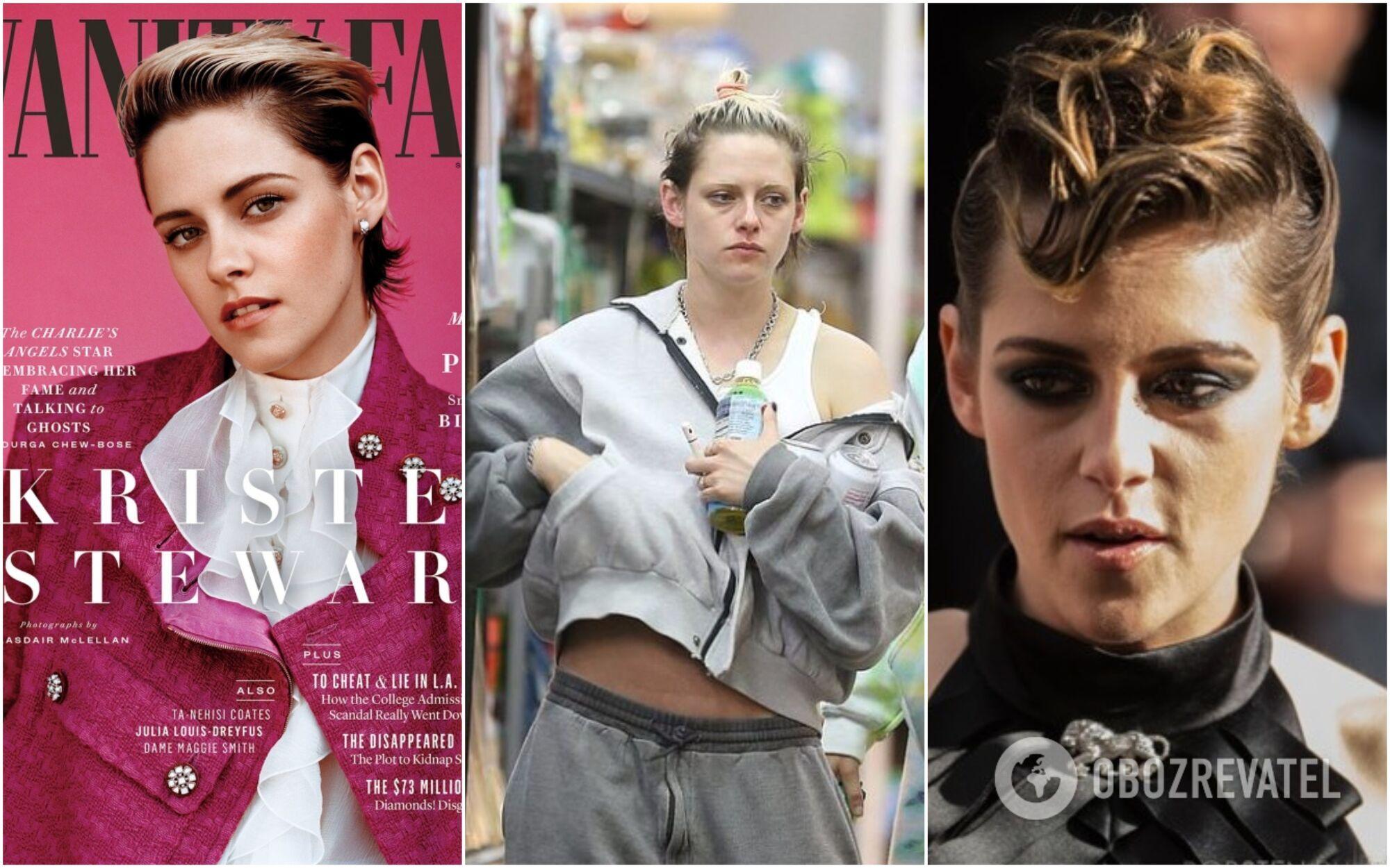 Крістен Стюарт на обкладинці Vanity Fair у 2019 році і її обличчя зблизька без фотошопу