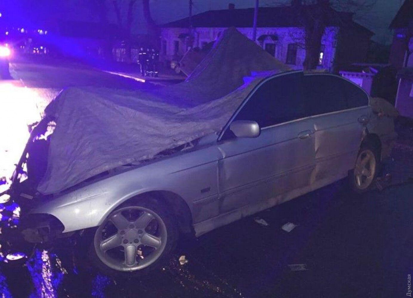Разбитое BMW