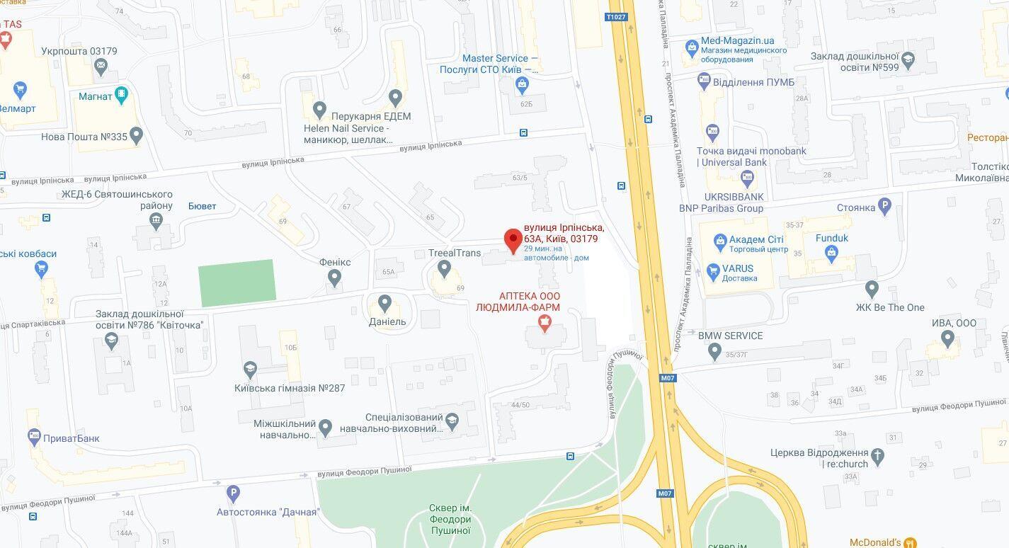 Событие произошло в Святошинском районе Киева.