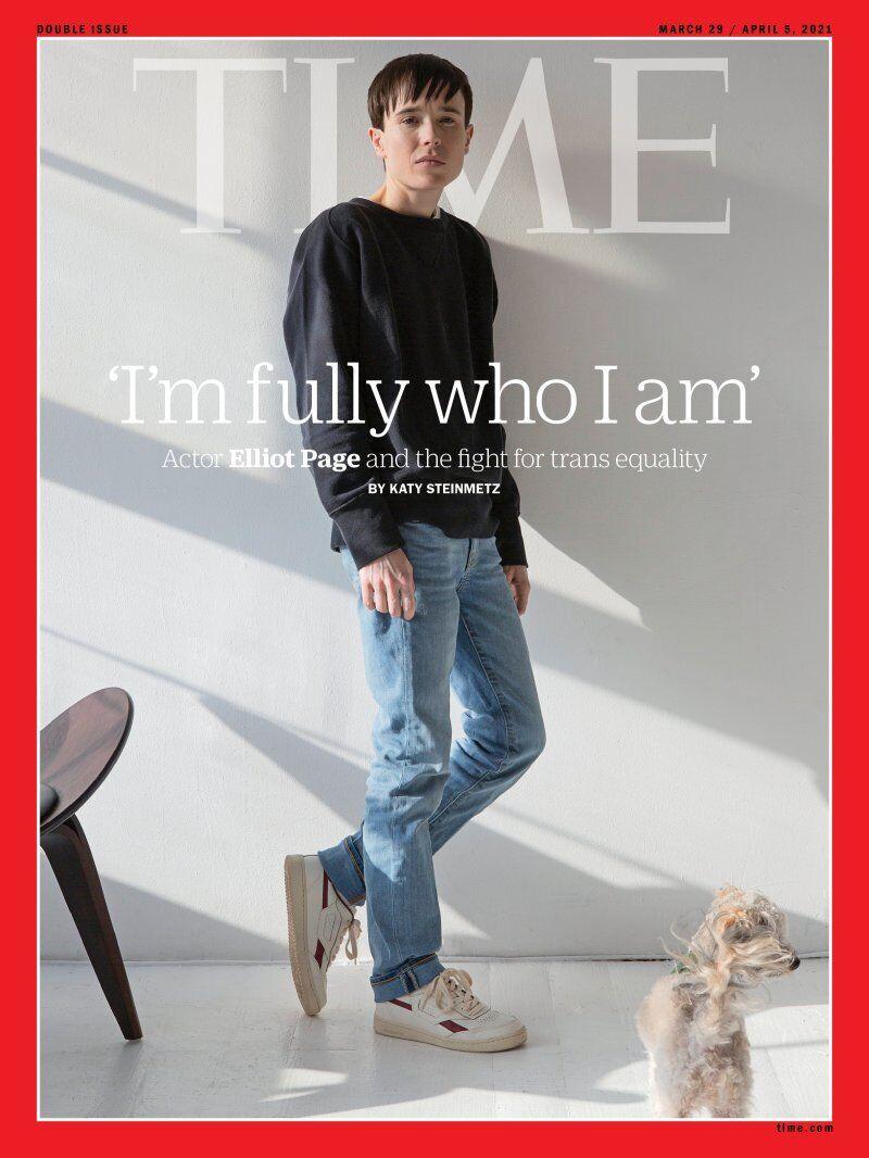 Эллиот Пейдж позировал для обложки журнала Time.