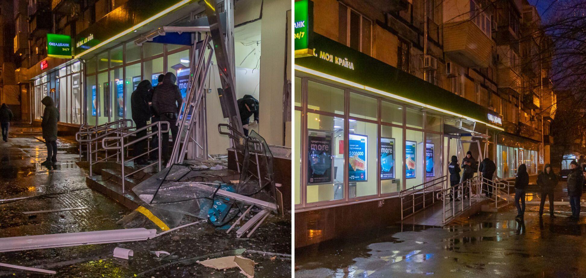 """У Дніпрі вночі підірвали банкомат """"Ощадбанку"""""""