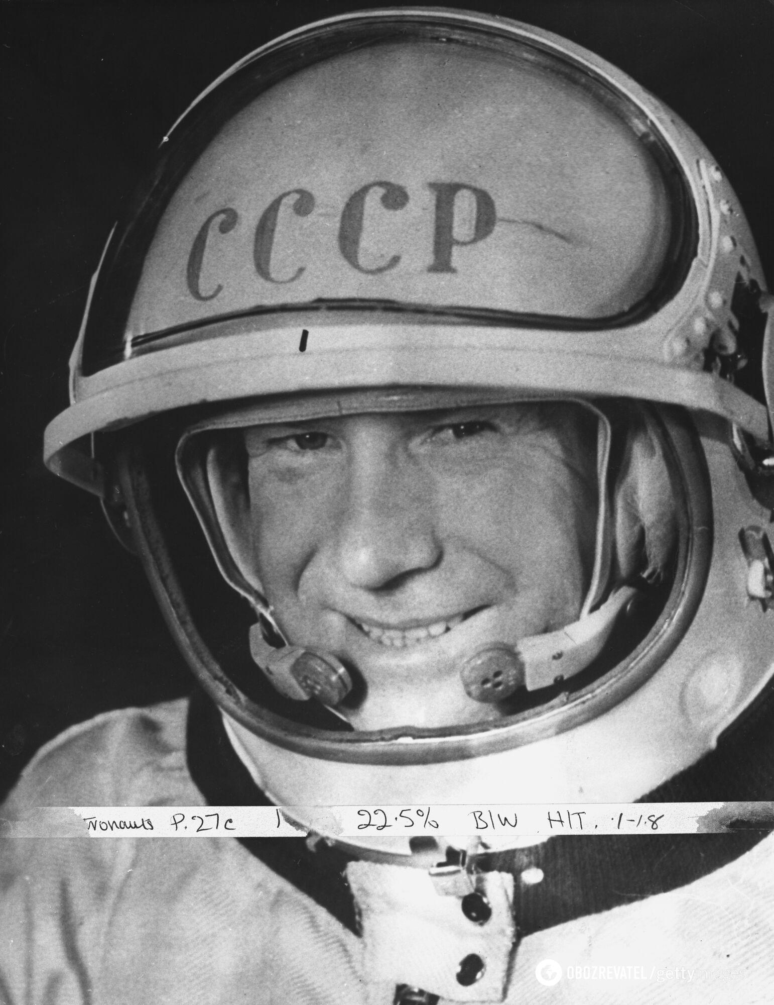 Олексій Леонов став першою людиною, що вийшла у відкритий космос