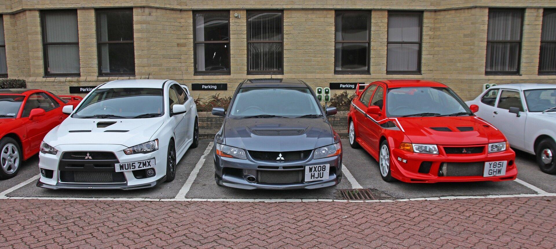Представники серії Mitsubishi Evo