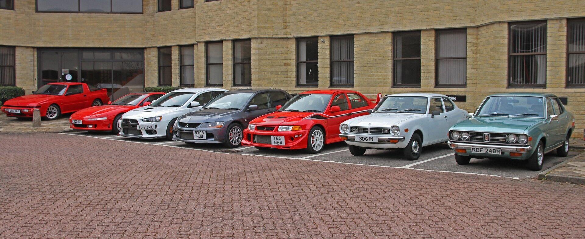 Асортимент моделей Mitsubishi, виставлених на продаж