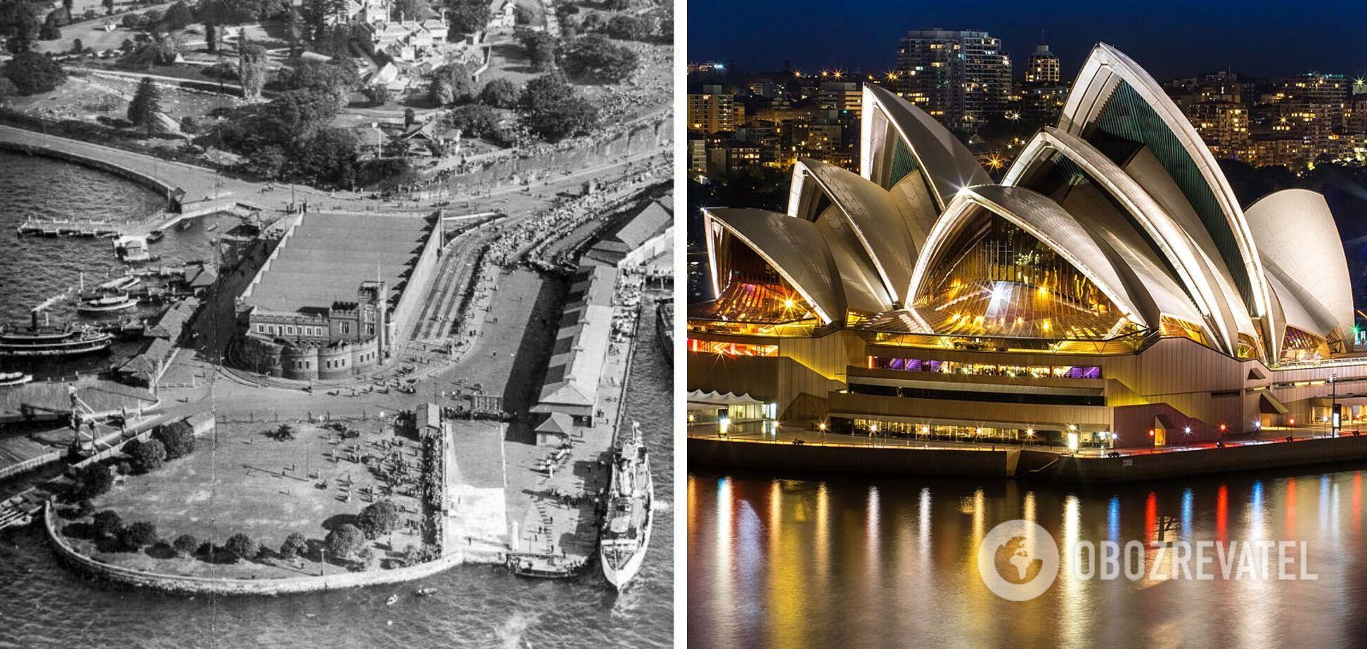 До и после строительства Сиднейского оперного театра.