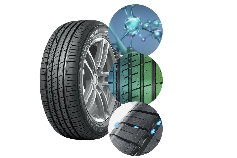 Nokian Hakka Green 3 имеют на 35% лучшую износостойкость, что позволит увеличить срок эксплуатации на один летний сезон или приблизительно на 10 тысяч км пробега