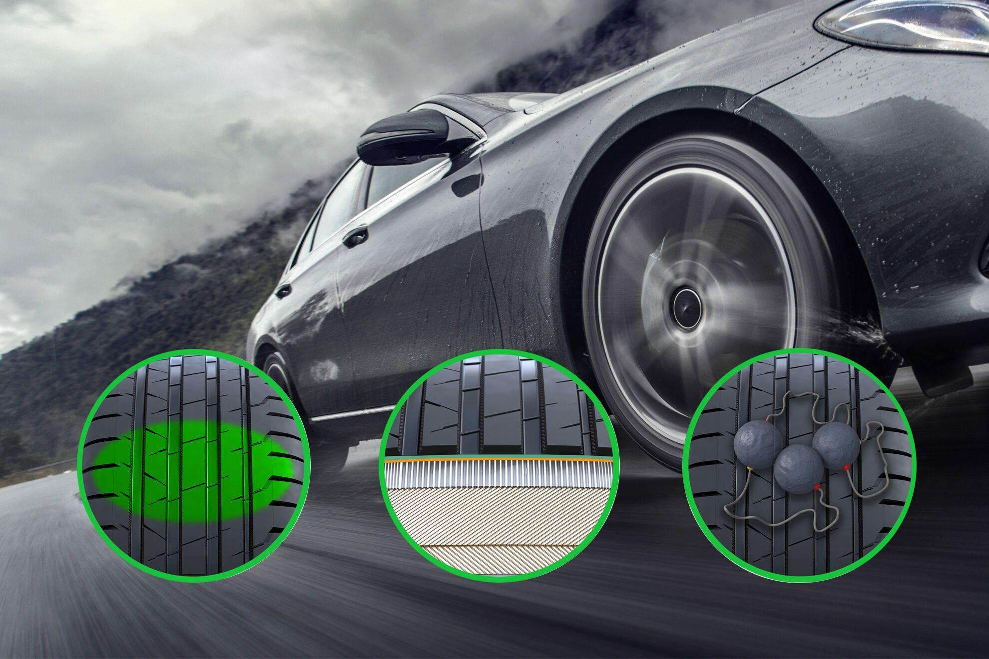 Используемая в конструкции Nokian Hakka Black 2 технология Dynamic Grip позволяет шине адаптироваться к неровностям поверхности и быстро реагировать на маневры