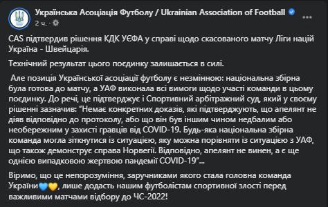 Україні остаточно зарахували технічну поразку