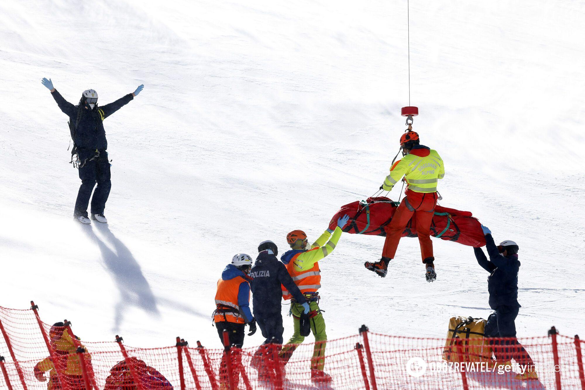 Эвакуация спортсменки