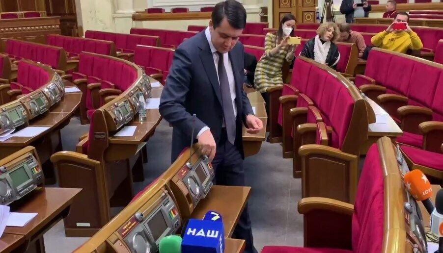 Разумков пояснив особливості сенсорної кнопки в Раді.
