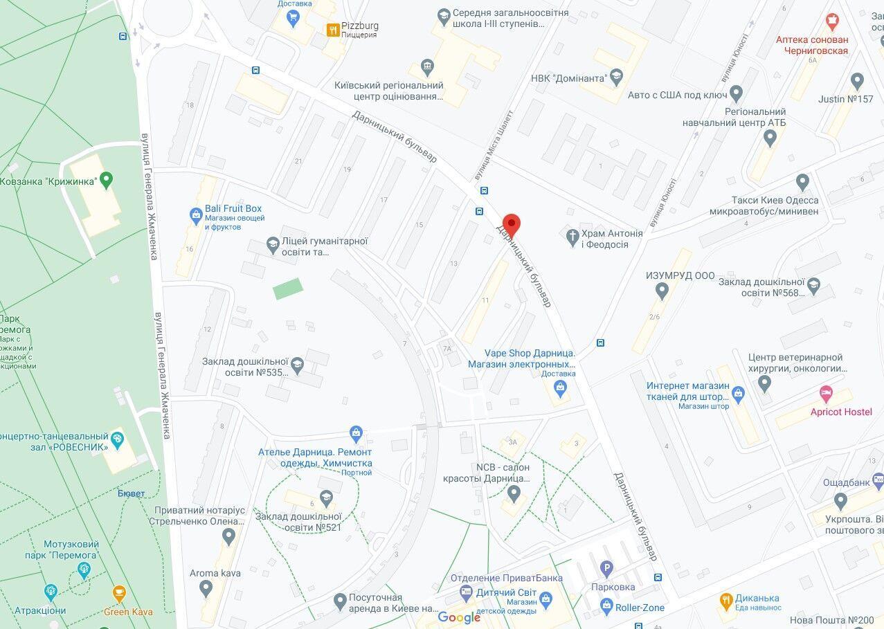 Аварія сталася на вулиці Дарницький бульвар.