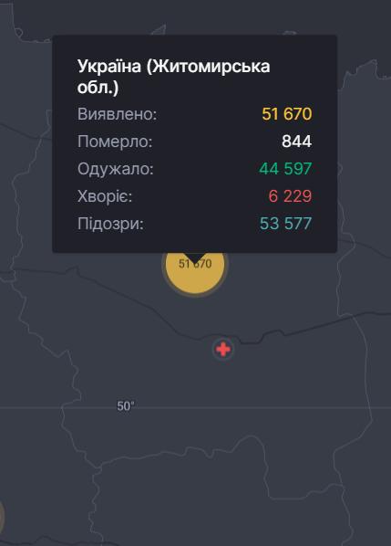 Коронавірус у Житомирській області. Статистика.
