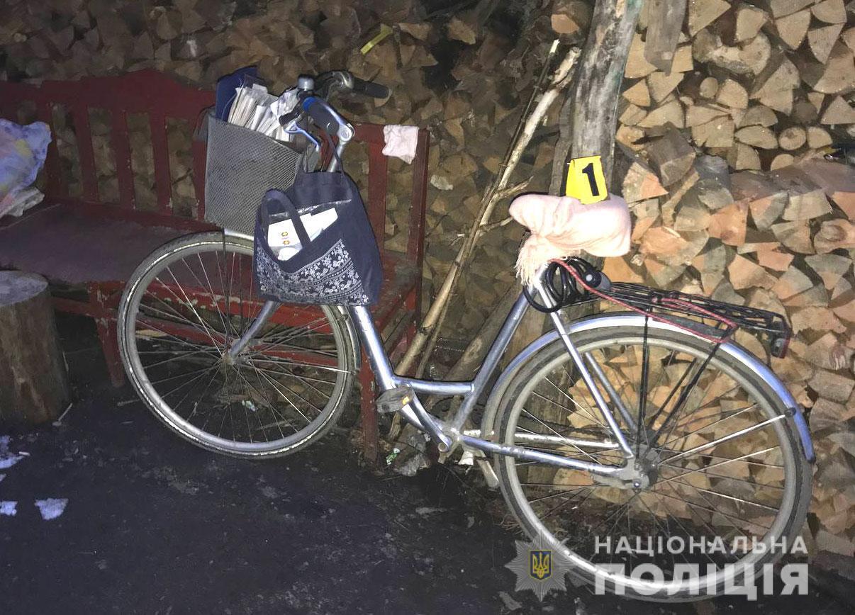 Велосипед подозреваемого.