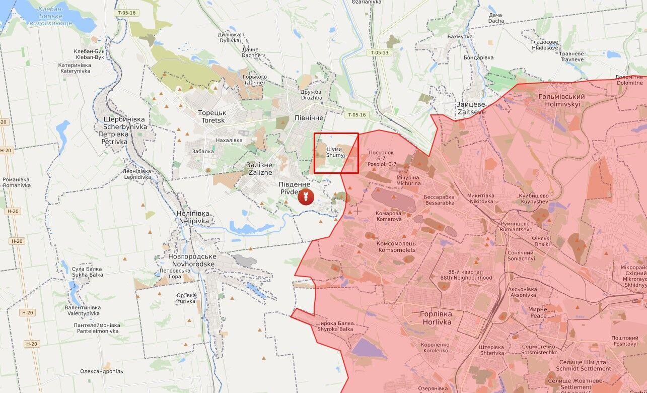 Ворог відкрив вогонь у районі населеного пункту Шуми.