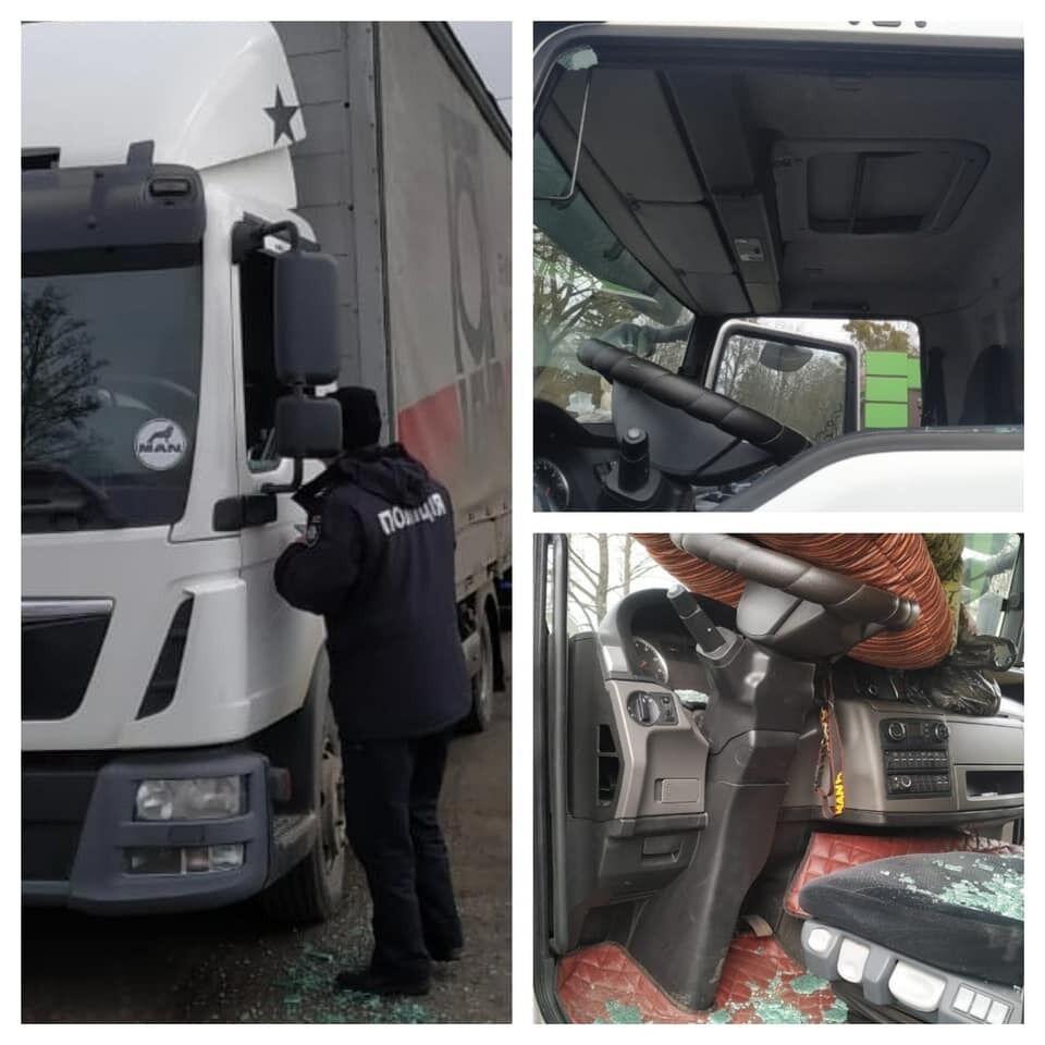 Деньги украли из грузовика мужчины.