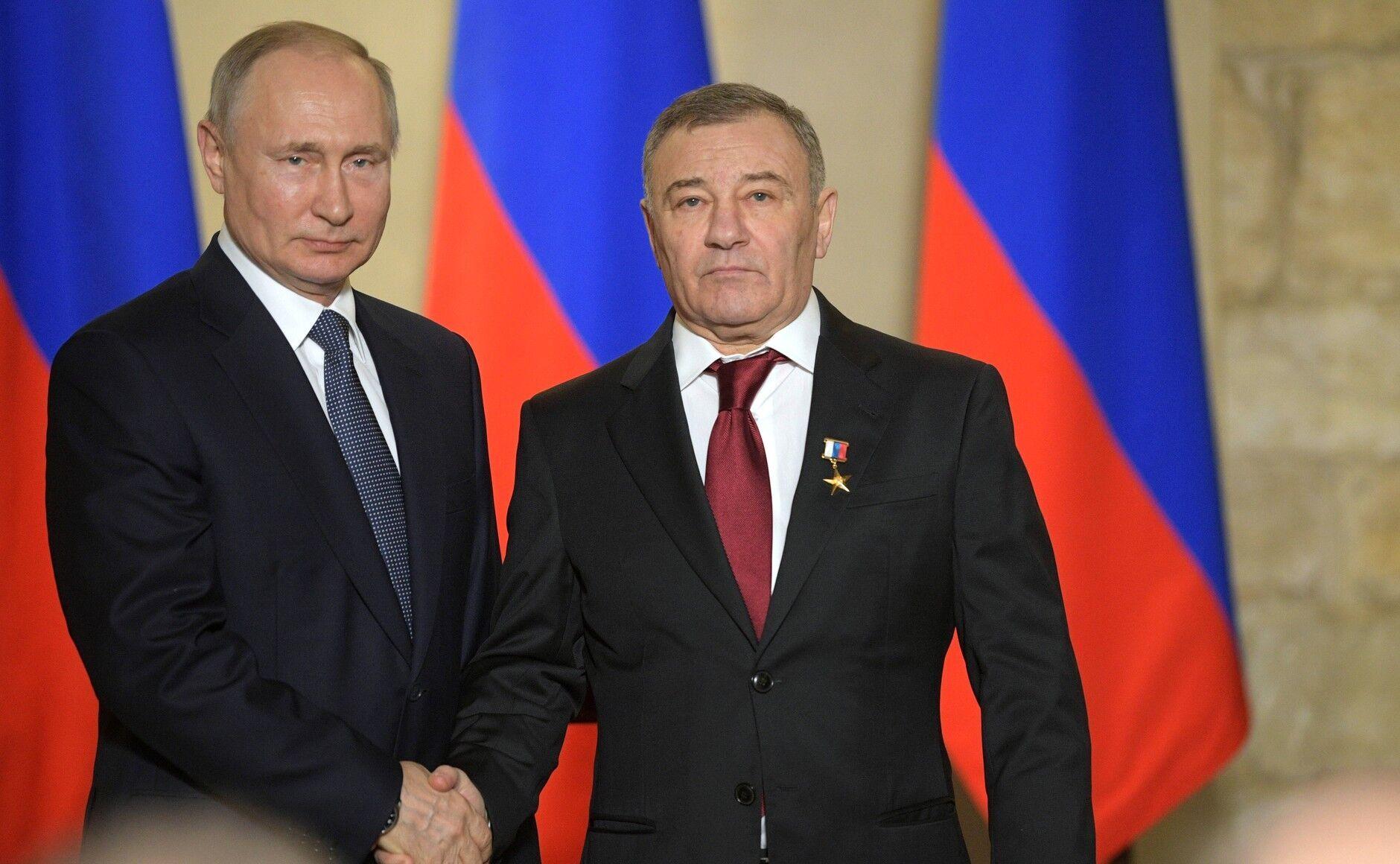 Аркадій Ротенберг і Володимир Путін.
