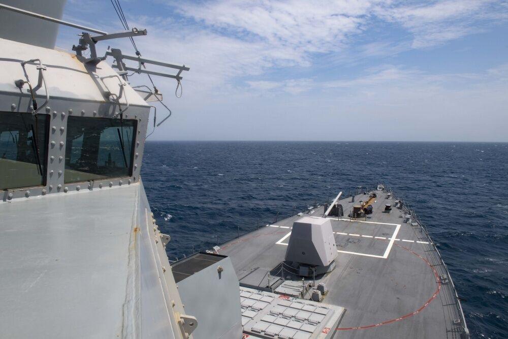 """20 марта в воды Черного моря вошел эсминец ВМС США """"Томас Хаднер"""""""