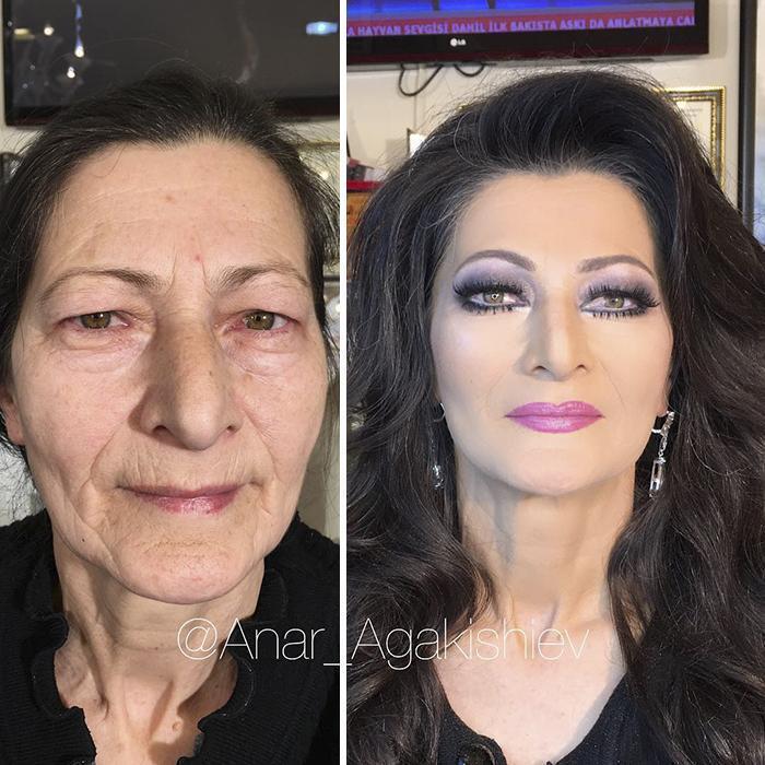 Женщина превратилась в богиню.