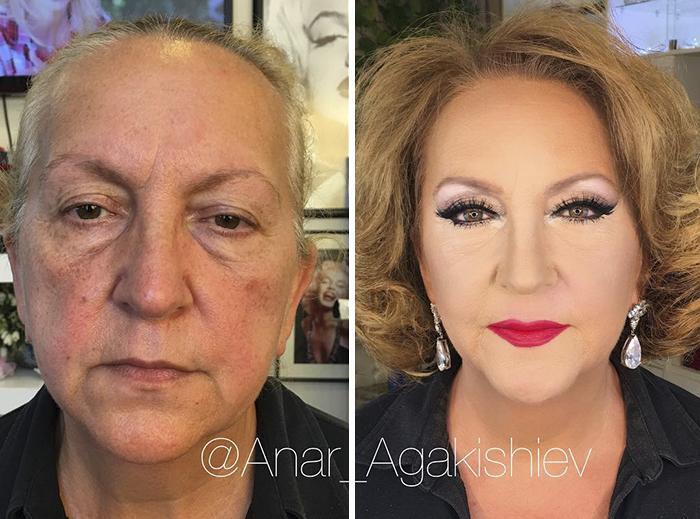 Женщина стала похожей на голливудскую актрису.