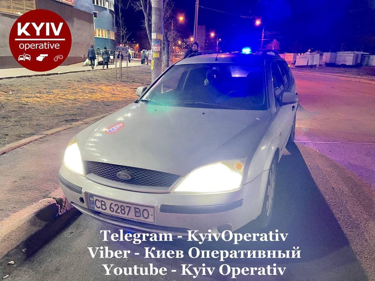 Автомобиль Андрея Божка.