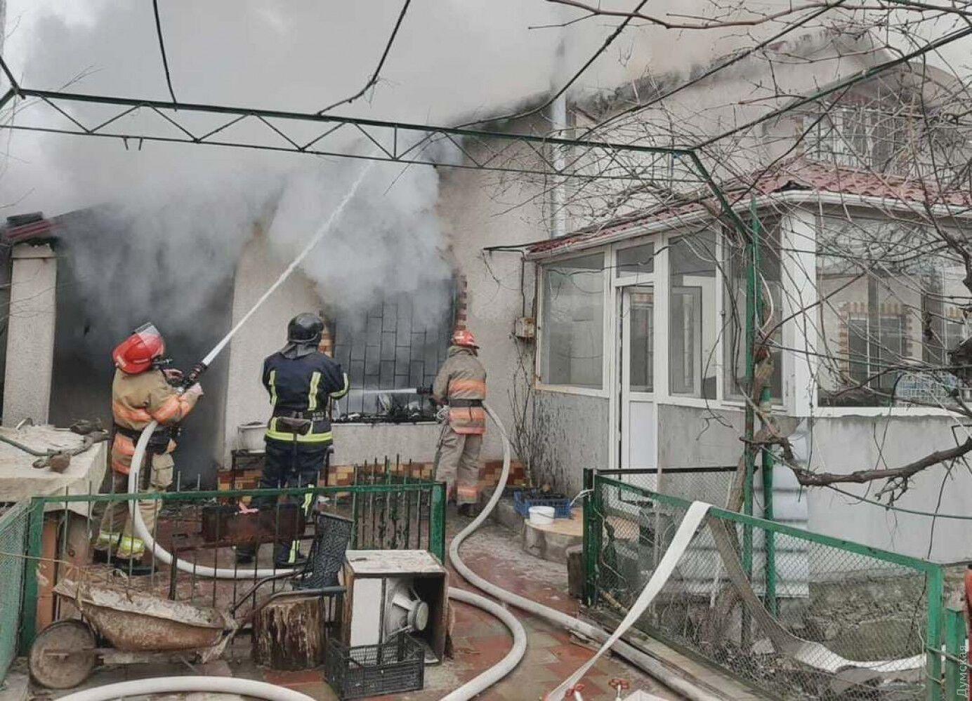 Возгорание в частном доме